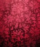 Papel pintado floral rojo Imágenes de archivo libres de regalías