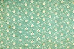 Papel pintado floral usado de la vendimia Fotografía de archivo