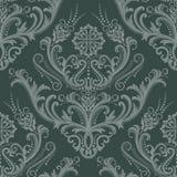 Papel pintado floral verde de lujo Fotografía de archivo