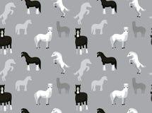 Papel pintado Galés Pony Shire Horse Cartoon Seamless libre illustration
