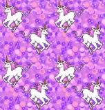 Papel pintado galopante de los unicornios Imágenes de archivo libres de regalías