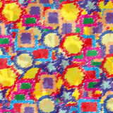 Papel pintado geométrico borroso del fondo del vector de los objetos Fotos de archivo libres de regalías