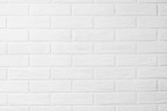 Papel pintado horizontal de la foto de la pared de ladrillo blanca en el cuarto Scandin Foto de archivo