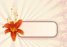 Papel pintado horizontal del vector con la orquídea Fotografía de archivo libre de regalías