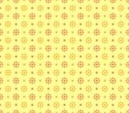 Papel pintado inconsútil con las flores geométricas libre illustration