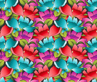 Papel pintado inconsútil de flores de lujo Imagenes de archivo