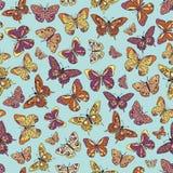 Papel pintado inconsútil de la mariposa Imágenes de archivo libres de regalías