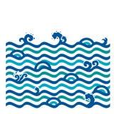 Papel pintado inconsútil de la onda de agua Estilo moderno stock de ilustración