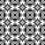 Papel pintado inconsútil de la textura del modelo del vintage del extracto real hermoso floral negro oriental ornamental de la pr stock de ilustración