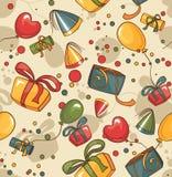 Papel pintado inconsútil del cumpleaños Fotos de archivo libres de regalías