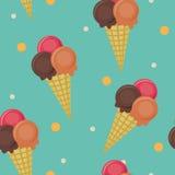 Papel pintado inconsútil del helado ilustración del vector
