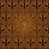 Papel pintado inconsútil del modelo Background.Damask. Imagenes de archivo