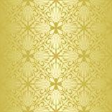 Papel pintado inconsútil del oro. Foto de archivo libre de regalías