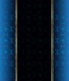 Papel pintado inconsútil elegante con la decoración fina de oro y lugar para su texto foto de archivo