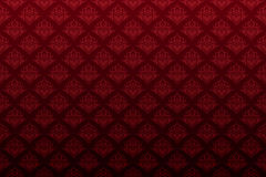 Papel pintado inconsútil floral del corazón rojo oscuro Imagen de archivo