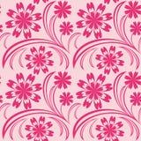 Papel pintado inconsútil floral rosado. Foto de archivo libre de regalías
