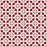 Papel pintado inconsútil geométrico floral chino árabe de la textura del modelo del vintage real rojo oriental ornamental abstrac ilustración del vector