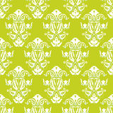 Papel pintado inconsútil verde y blanco del vector Fotos de archivo libres de regalías