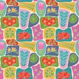 Papel pintado lindo con las flores tropicales del estilo plano de la belleza Fotos de archivo libres de regalías