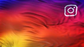 Papel pintado liso colorido del fondo de la onda de la pendiente del icono de Instagram Fotos de archivo libres de regalías
