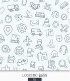 Papel pintado logístico del negocio Modelo inconsútil de la entrega y de la distribución libre illustration