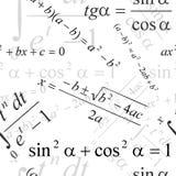 Papel pintado matemático Foto de archivo