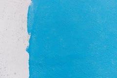 Papel pintado medio blanco y azul del color Fotografía de archivo