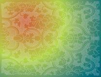Papel pintado oriental de la flor Stock de ilustración