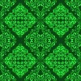 Papel pintado ornamental inconsútil verde. Imagen de archivo libre de regalías