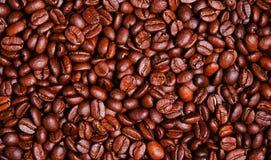 Papel pintado oscuro de los granos de café de la carne asada Imagen de archivo