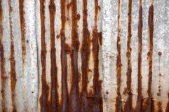 Papel pintado oxidado de la placa del cinc del estilo retro Imágenes de archivo libres de regalías