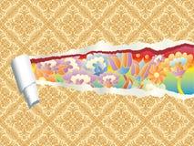 Papel pintado rasgado del estallido Imagen de archivo libre de regalías