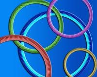 Papel pintado redondo de los anillos Ilustración del Vector