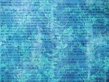 Papel pintado retro azul de la literatura Fotos de archivo