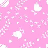 Papel pintado retro de la celebración del día de fiesta del partido del diseño del vintage del modelo inconsútil rosado de Pascua Foto de archivo libre de regalías