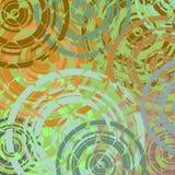 Papel pintado retro de los círculos de Grunge Foto de archivo