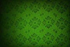 Papel pintado retro verde Imagen de archivo libre de regalías