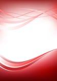 Papel pintado rojo con las líneas de la curva Foto de archivo