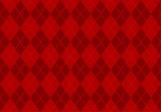 Papel pintado rojo del argyle Fotografía de archivo