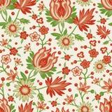 Papel pintado rojo inconsútil de la flor Fotografía de archivo