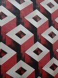 Papel pintado rojo para las paredes del interor foto de archivo