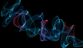 Papel pintado rojo y azul del humo libre illustration