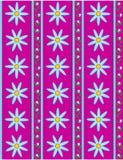 Papel pintado rosado del vector EPS 10 con las flores azules   Foto de archivo libre de regalías