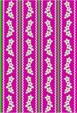 Papel pintado rosado del vector EPS 10 con las flores blancas Fotos de archivo libres de regalías