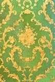 Papel pintado verde viejo Imagen de archivo libre de regalías