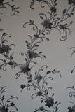 Papel pintado, vinilo, interlineando, fondo, flores Foto de archivo libre de regalías