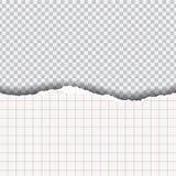 Papel quadrado rasgado com sombra, em um fundo transparente ilustração royalty free
