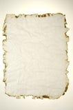 Papel queimado Fotografia de Stock