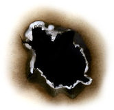 Papel queimado Imagem de Stock Royalty Free