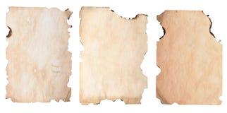 Papel queimado das bordas Fotografia de Stock